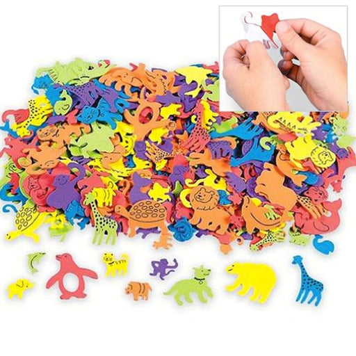 Foam Self-Adhesive Animal Shapes - 500 Pieces