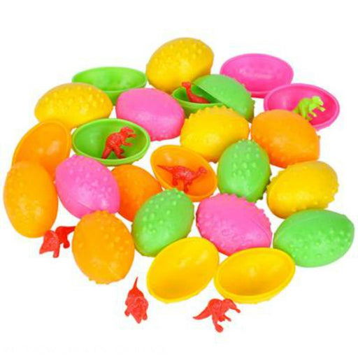 Dinosaur in Egg Easter Eggs - 24 Dinosaurs Eggs with Mini toy Dinosaur figures I - PlayKreative.com