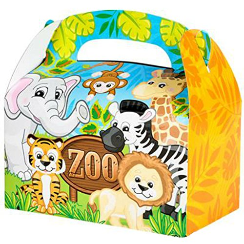 Play Kreative Zoo Animal Gable Treat Box - Pack of 12 - PlayKreative.com