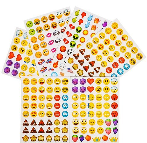 Play Kreative Bulk Emoji Stickers Assortment - Party Favors Decorations - PlayKreative.com