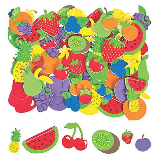 Fabulous Foam Fruit Shapes  - 500 Pieces