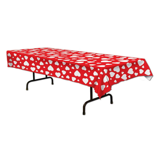 Beistle 70427 Heart Tablecover, 54 by 108-Inch, 1 Per Package - PlayKreative.com