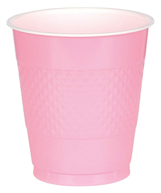 Pink Plastic Cups  - 50 Pieces - 16 oz