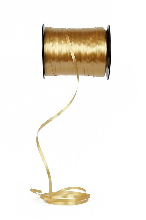Curling Ribbon 3/16-Inch Wide by 500-Yard - Play Kreative TM (Gold) - PlayKreative.com