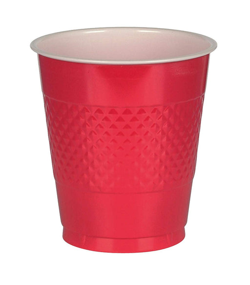 Red Plastic Cups  - 20 Pieces - 12 oz