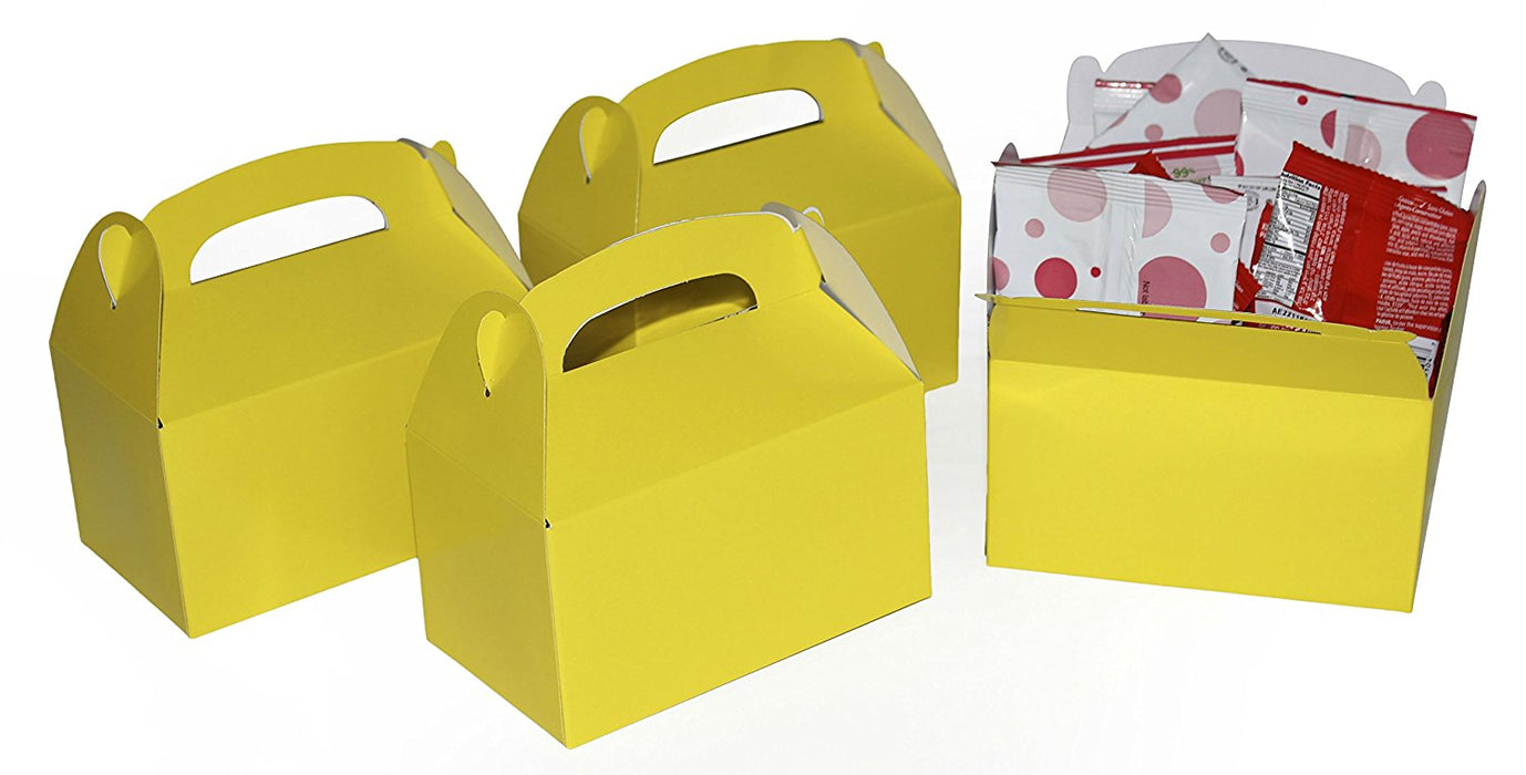 Play Kreative Yellow Gable Treat Box - Pack of 12 - PlayKreative.com