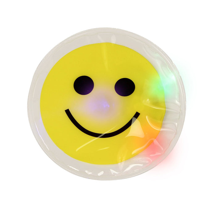 12 Light Up Smile Face Stickers - 1 Dozen LED Glow In The Dark Smiley Face Stick - PlayKreative.com