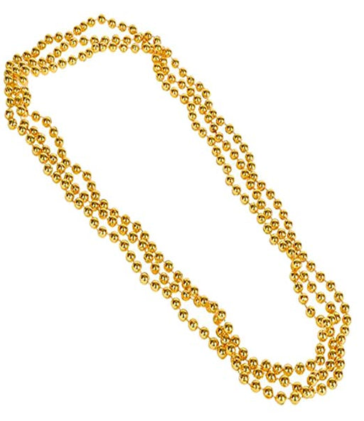Metallic Bead Necklaces -12 pk - Play Kreative TM (Yellow) - PlayKreative.com
