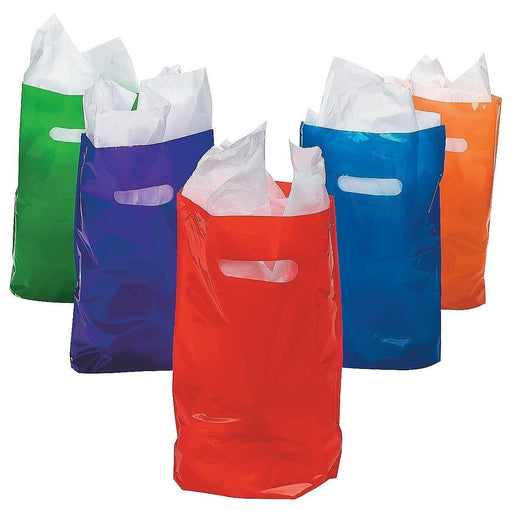 Treat / Goody Plastic Bags ~ Party Favor (Package of 50) (Assorted Colors) - PlayKreative.com