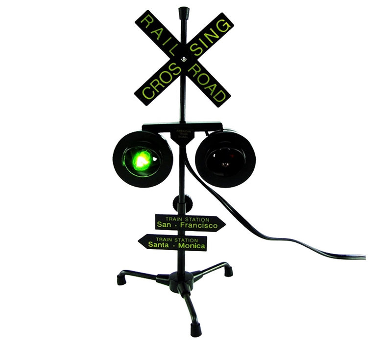 Play Kreative Railroad Train/Track Crossing Sign with Flashing Lights - PlayKreative.com