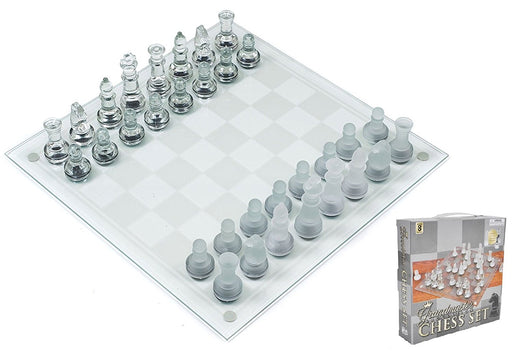 Play Kreative Glass Chess Game Set - Kids Mini 7.5 Glass Chess Game Great Presen - PlayKreative.com