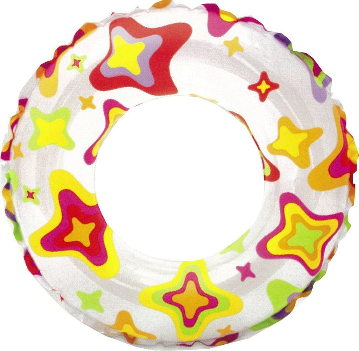 "Intex Lively Star Print Inflatable Swim Ring / Pool Tube / Raft 20"" - PlayKreative.com"