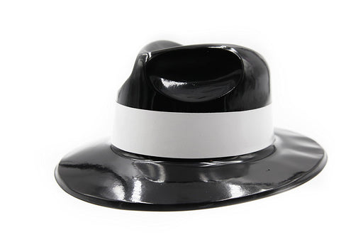 Kids Black Plastic Gangster Fedoras Hat (12 Pack) - Play Kreative TM - PlayKreative.com