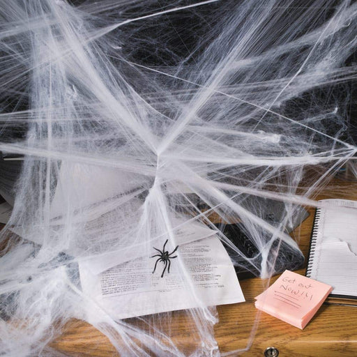 Halloween Spider Webs with Spiders- Pack of 12