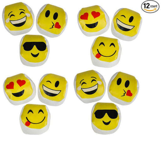 Play Kreative Emoji Kickball - 12 pack Emoticon Hacky Sacks Party Kick Balls - PlayKreative.com