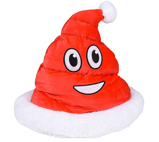 Play Kreative Christmas Plush Emoji Red Santa Poop Hat - PlayKreative.com
