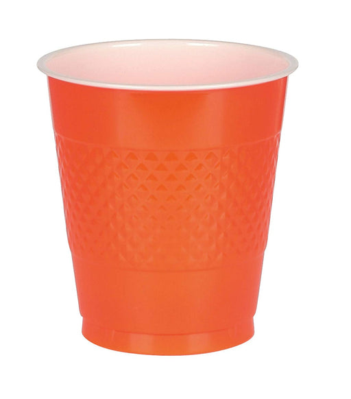 Orange Plastic Cups  - 50 Pieces - 16 oz