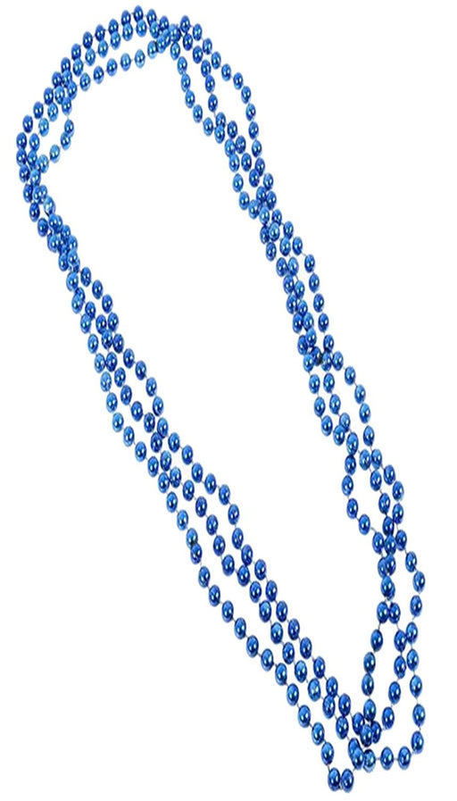 Play Kreative Blue Metallic Bead Necklaces -12 pk - PlayKreative.com
