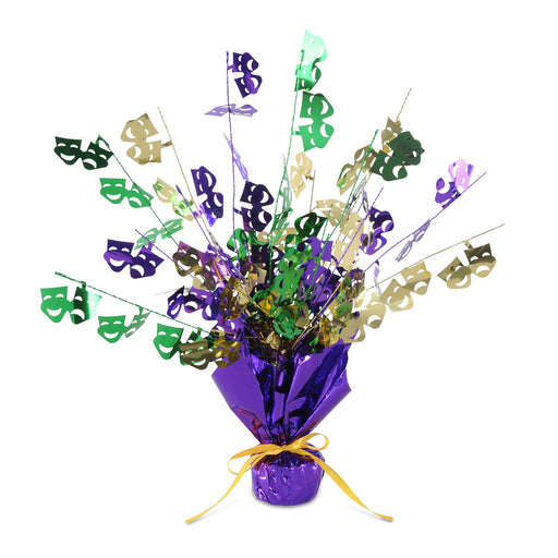Mardi Gras Party Centerpiece - 3 Pieces