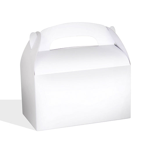 Play Kreative White Gable Treat Box - Pack of 12 - PlayKreative.com