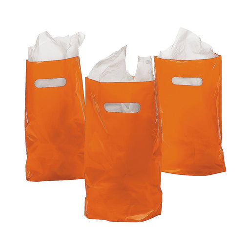 Play Kreative Orange Treat / Goody Plastic Bags ~ Party Favor - Pack of 50 - PlayKreative.com