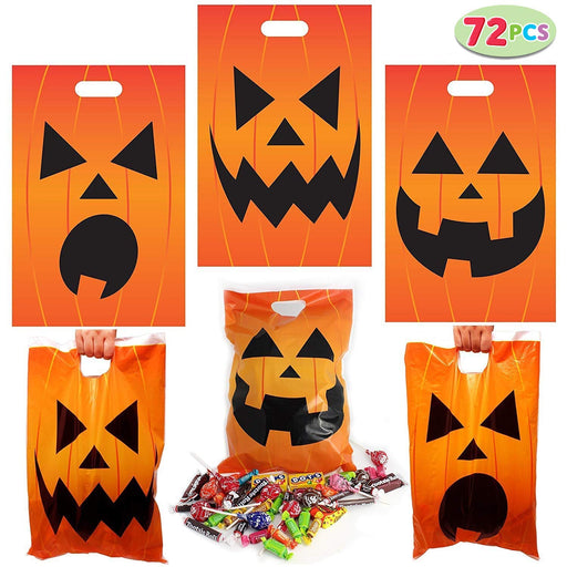 Halloween Jack O Lantern Trick Or Treat Bags  - Pack of 72