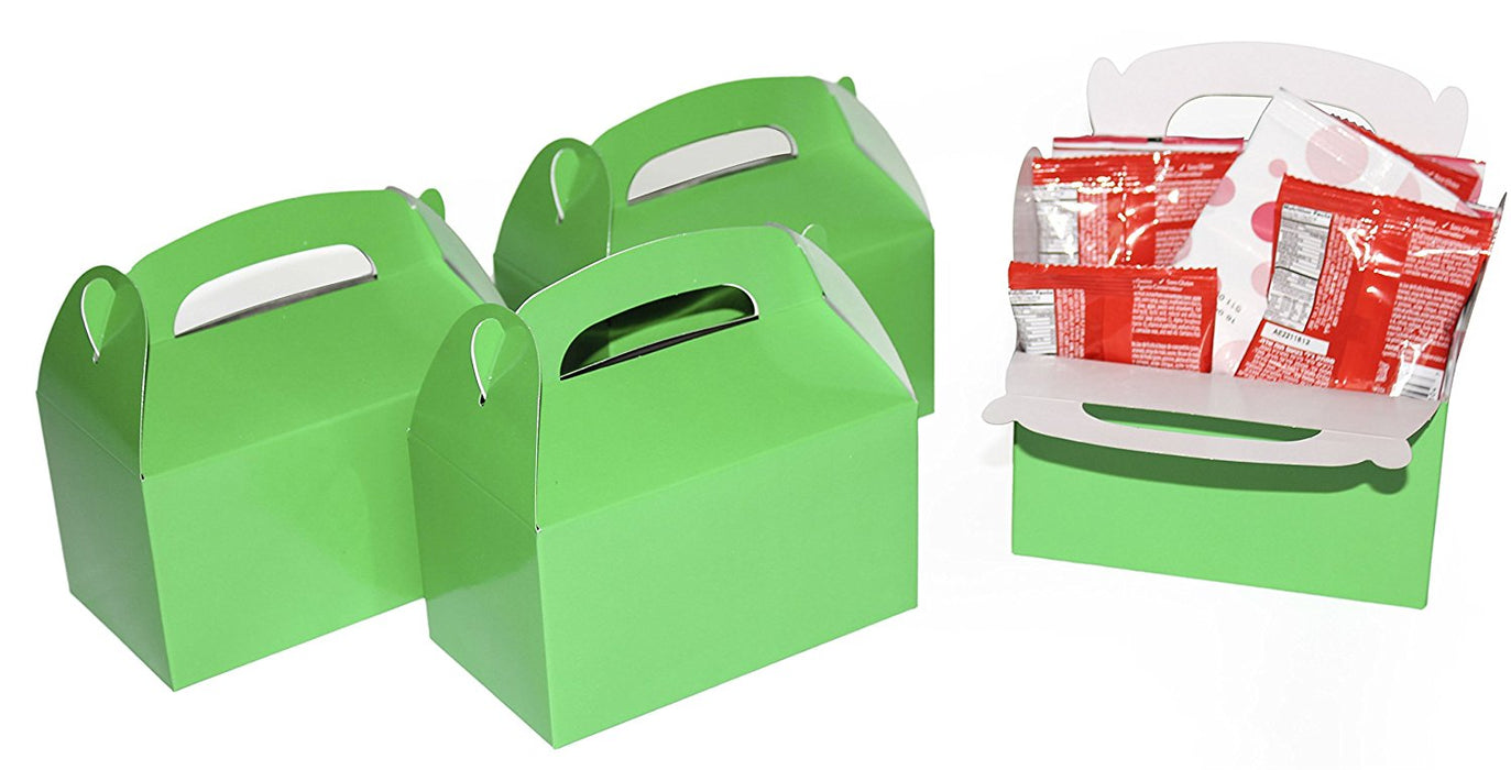 Play Kreative Green Gable Treat Box - Pack of 12 - PlayKreative.com