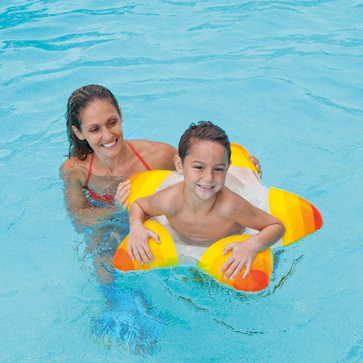 Intex Inflatable Star Shape Swim Rings ~ Choose Color (Orange) - PlayKreative.com