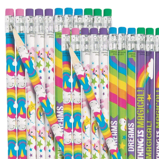Unicorn Pencils - Pack of 24