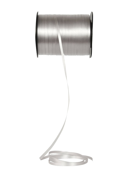 Curling Ribbon 3/16-Inch Wide by 500-Yard - Play Kreative TM (Silver) - PlayKreative.com