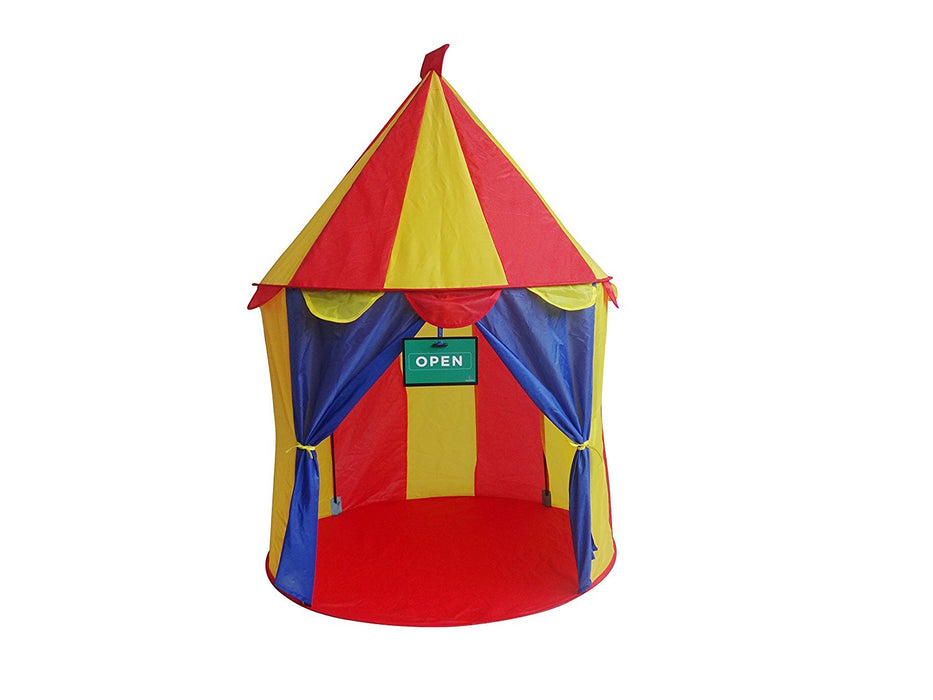 Play Kreative Circus Pop Up Tent Bright Colorful Carnival Booth