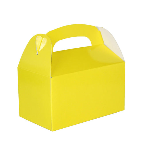 Yellow Gable Treat Box - Pack of 12 - Play Kreative - PlayKreative.com