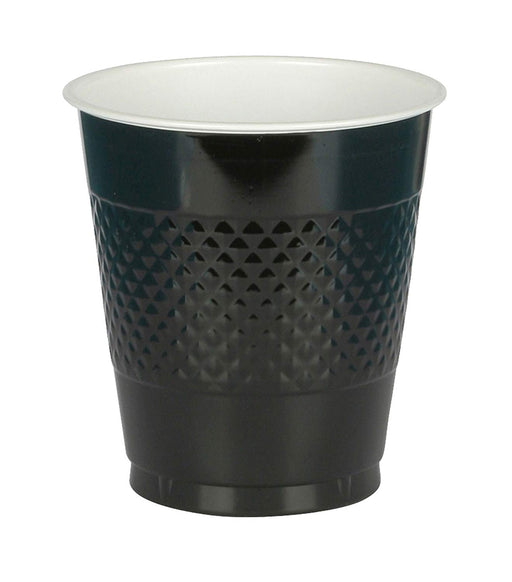 Black Party Plastic Cups  - 16 oz. - Pack of 50 - PlayKreative.com
