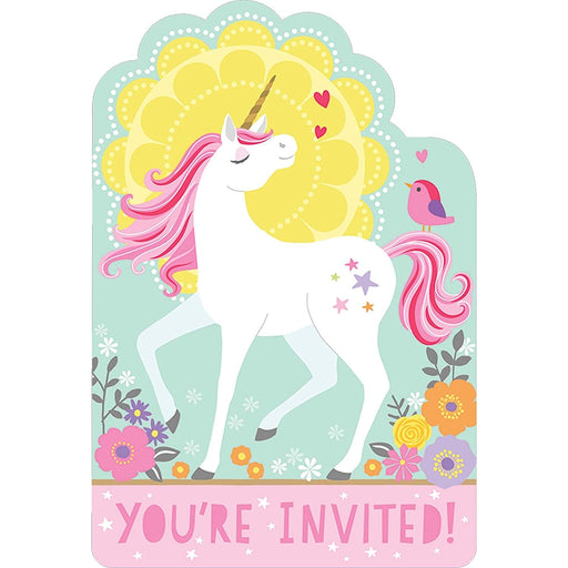 Magical Unicorn Invitations - Pack of 8