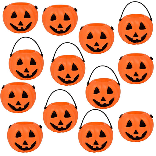 Halloween Pumpkin Candy Cups with Handles  - Pack of 24