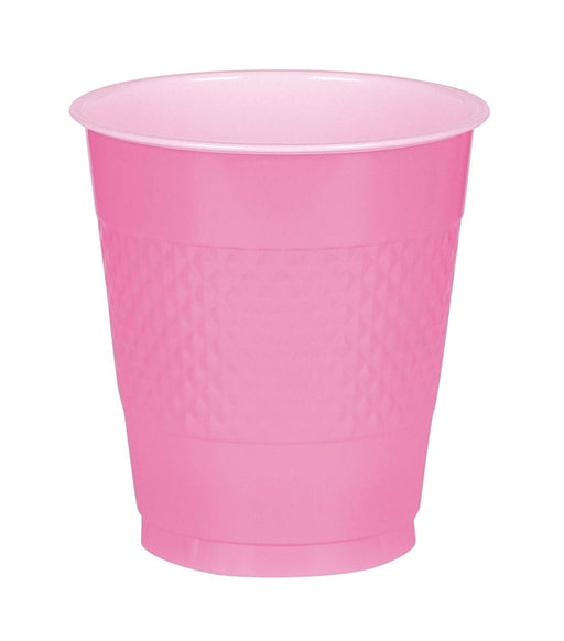 Bright Pink Plastic Cups  - 50 Pieces - 16 oz