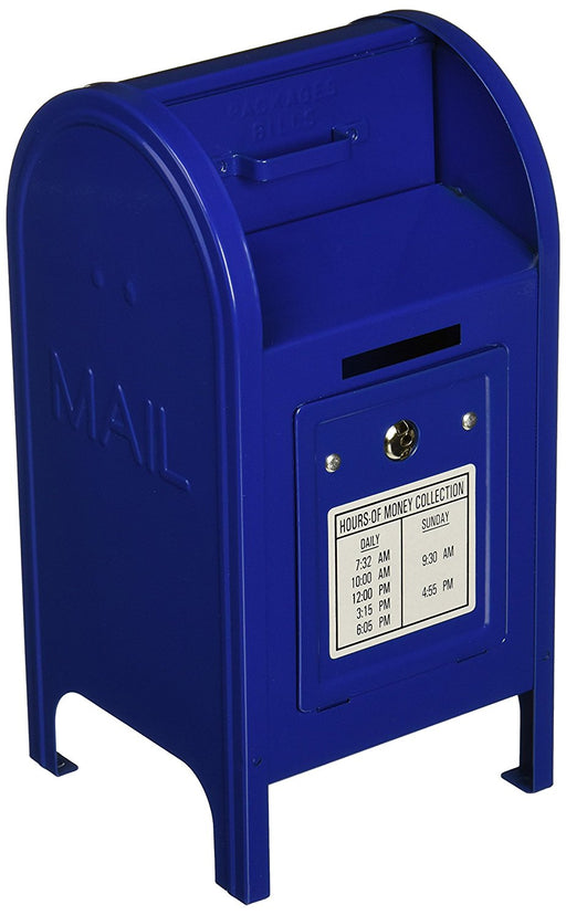 Play Kreative Blue Metal Mailbox Coin Bank - PlayKreative.com
