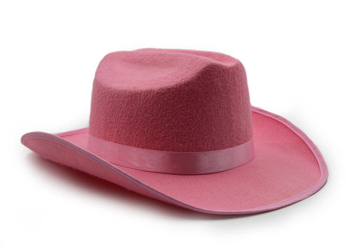 Child's Cowboy / Cowgirl Felt Costume Kids Hat - Play Kreative TM (Pink) - PlayKreative.com