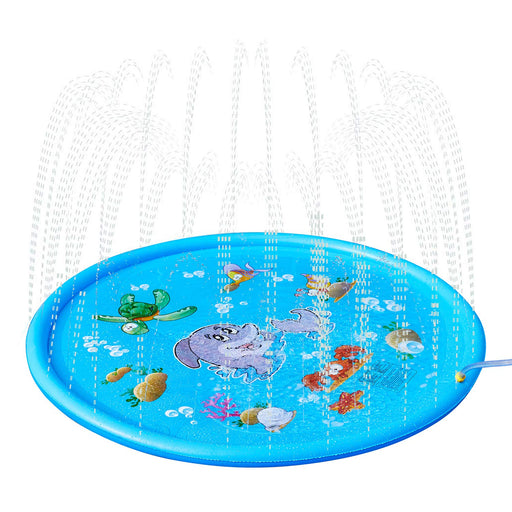 Sprinkle & Splash Play Mat-  68 Inch Sprinkler for Kids & Toddlers Outdoor Fun