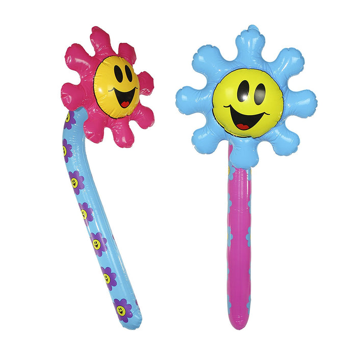 "Smiley Face Inflatable Flower 36"" - 2 Fun Inflates Flower Pool Water Beach Birth - PlayKreative.com"
