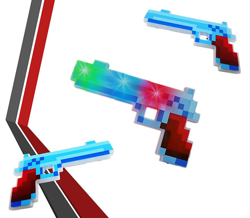 Play Kreative Light up Pixel Pistol - LED Light up Action Weapon Gun - PlayKreative.com
