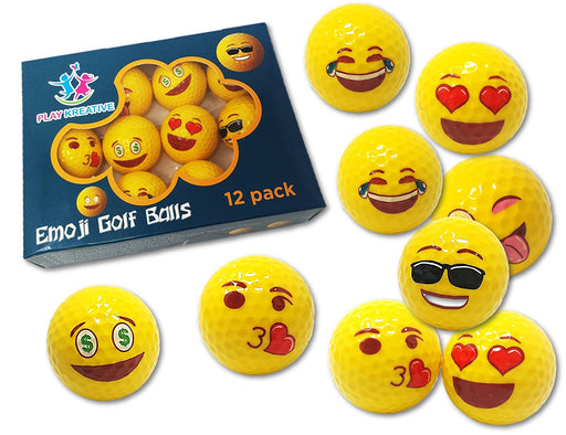 Play Kreative EMOJI Professional Practice Golf Balls. - PlayKreative.com
