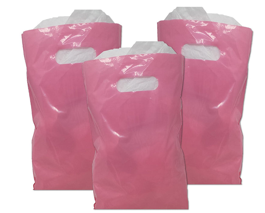 Treat / Goody Plastic Bags ~ Party Favor (Package of 50) (Baby Pink) - PlayKreative.com