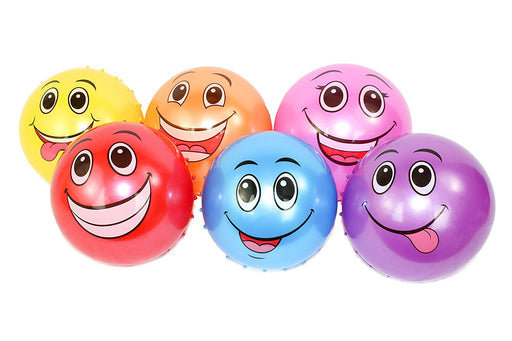 Play Kreative Funny Smiley Face Knobby Bounce Balls - PlayKreative.com