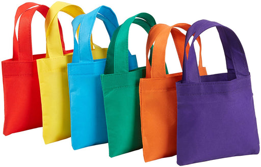 "Play Kreative Poly Non-Woven Tote Bags 6"" Assorted Colors Party Bag - PlayKreative.com"