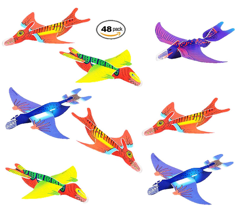 Play Kreative 48 PK Flying Dinosaur Glider Planes - Kids party favors for Dinosa - PlayKreative.com