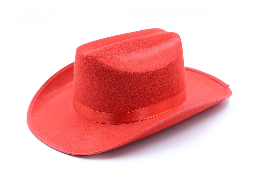 Child's Cowboy / Cowgirl Felt Costume Kids Hat - Play Kreative TM (Red) - PlayKreative.com