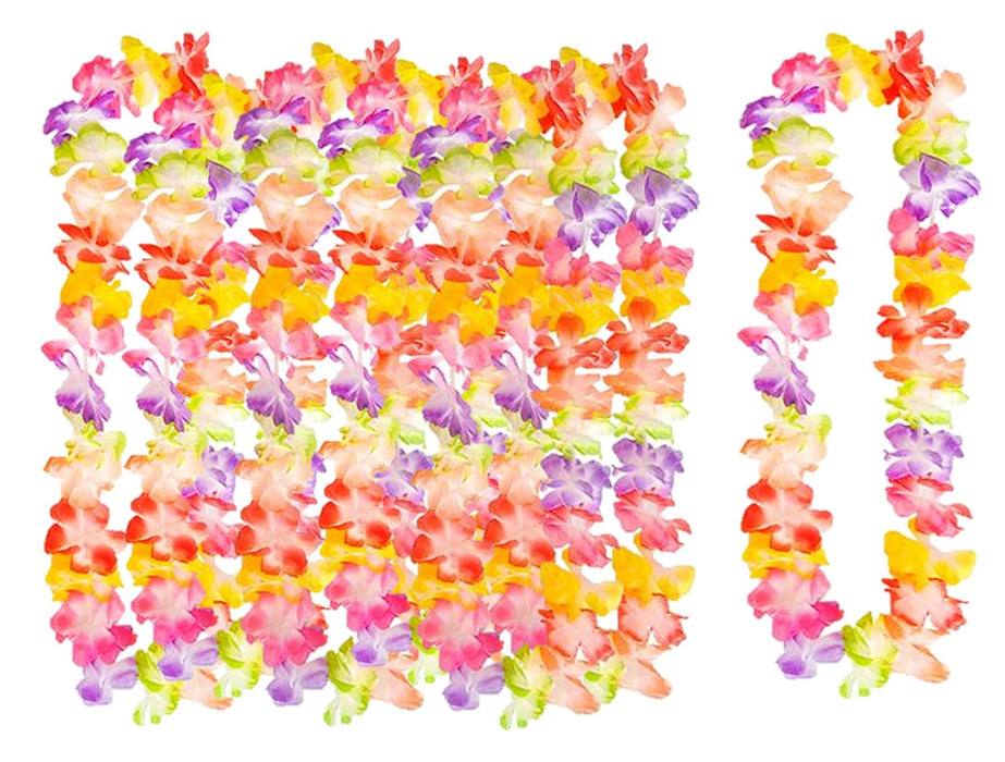 Play Kreative Rainbow Tropical Hawaiian Luau Flower Lei Party Favors - PlayKreative.com