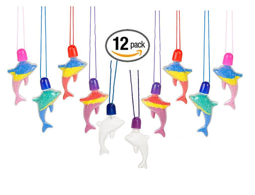 Play Kreative Sand Art Dolphin Necklaces  - Pack of 12 - PlayKreative.com