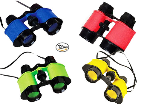 Play Kreative Toy Binocualrs - Pack of 12 Assorted Colorful Novelty Binoculars w - PlayKreative.com